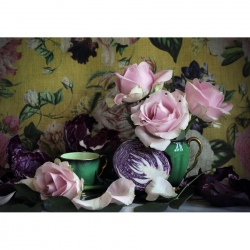 Tea Towel - Still Life with Pink Roses