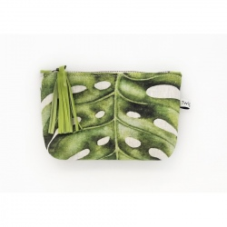 Pouch Bag - Green Leave