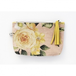 Pouch Bags - Yellow Flowers
