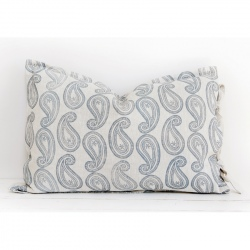 Pillow - Blue Paisley